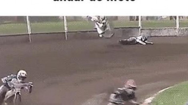 Unbelievable moment in motor biking sport if it wasn't recorded and captured on video nobody would have believed that